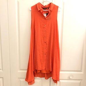 Mlle Gabrielle Orange Shirt Dress